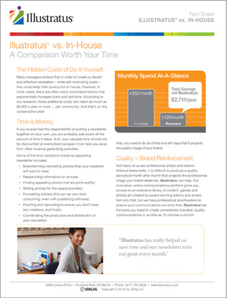 (PDF of In-House vs. Outsourcing Fact Sheet)